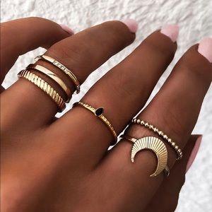 Jewelry - 🔥 6 gold midi rings set